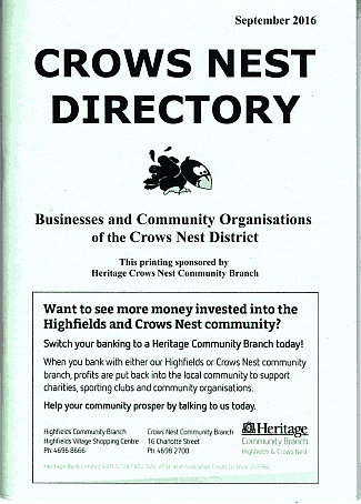 Crows Nest Directory Sep 2016